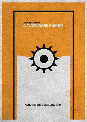 A Clockwork Orange Poster by Ayse Deniz