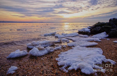 Poster featuring the photograph A Cold Sandy Hook Winter by Debra Fedchin