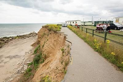 A Collapsed Coastal Road At Barmston Poster