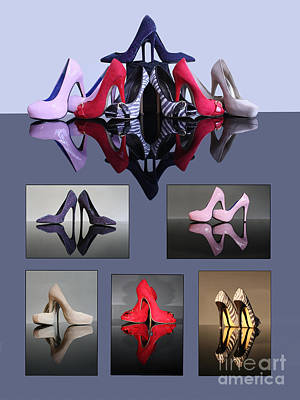 A Collection Of Stiletto Shoes Poster