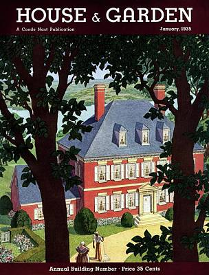 A Colonial Manor House Poster