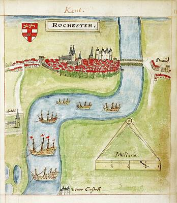 A Coloured Plan Of Rochester Poster by British Library