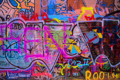 A Colourful Wall. Poster
