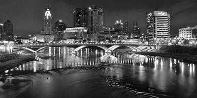 A Columbus Night Poster by Frozen in Time Fine Art Photography