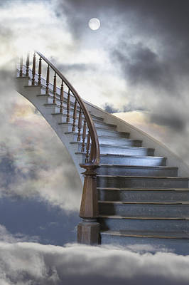 A Composite Entitled Staircase Poster by Robert Bartow
