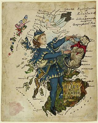 A Correct Outline Of Scotland Poster