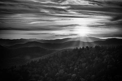 Poster featuring the photograph A Cowee Mountains Evening by Ben Shields