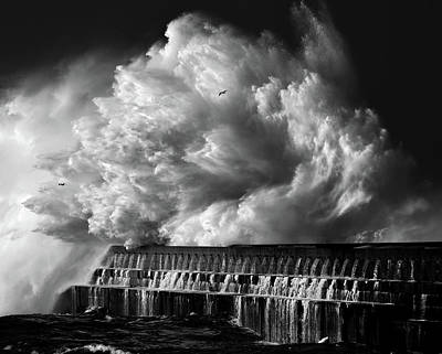 A Crashing Wave Poster by Maciej Hermann