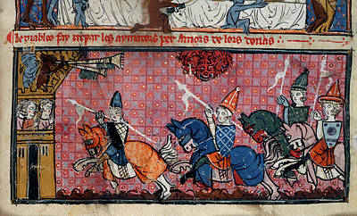 A Crowd At A Joust Poster