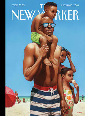 A Day At The Beach Poster by Kadir Nelson