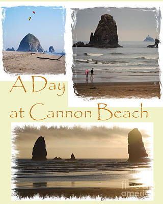 A Day On Cannon Beach Poster by Sharon Elliott