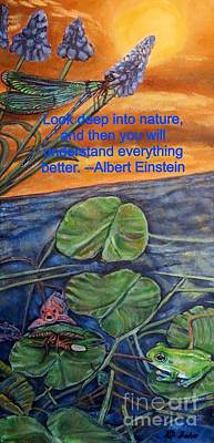 Poster featuring the painting A Deep Look Into Nature And Our Water by Kimberlee Baxter
