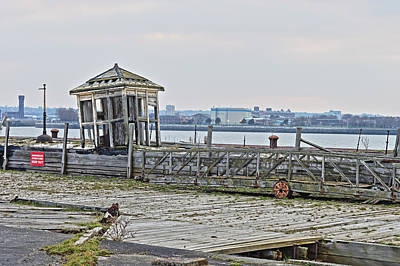A Derelict Kiosk On A Disused Quay In Liverpool Poster