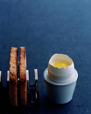 A Dessert Made To Look Like An Egg And Toast Poster by Romulo Yanes
