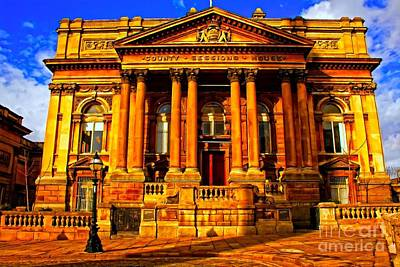 A Digitally Converted Painting Of Sessions House In Liverpool Uk Poster by Ken Biggs