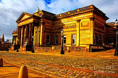 A Digitally Converted Painting Of The Walker Art Gallery In Liverpool Uk Poster by Ken Biggs
