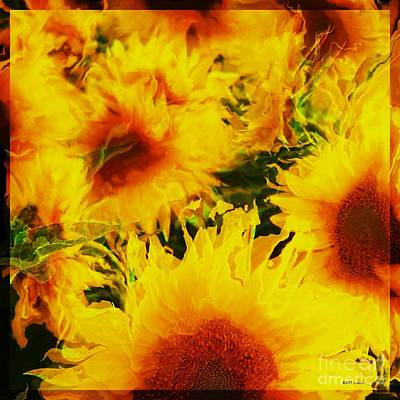 A Dream Of Sunflowers Poster by Elizabeth McTaggart