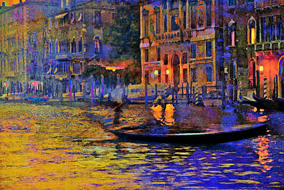 A Dream Of Venice Poster by Steven Boone