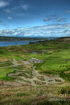 A Fairway To Heaven - Chambers Bay Golf Course Poster by Chris Anderson