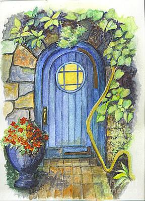 Poster featuring the painting A Fairys Door by Carol Wisniewski
