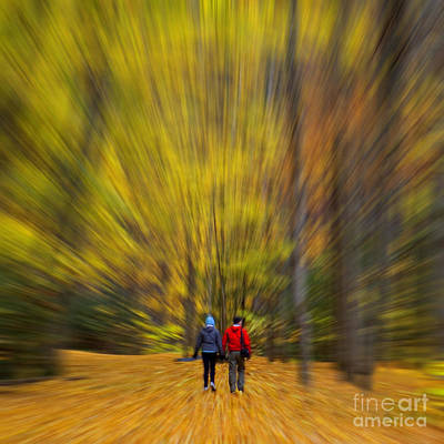 A Fall Stroll Taughannock Poster by Jerry Fornarotto