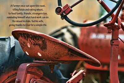 A Farmer And His Tractor Poem Poster