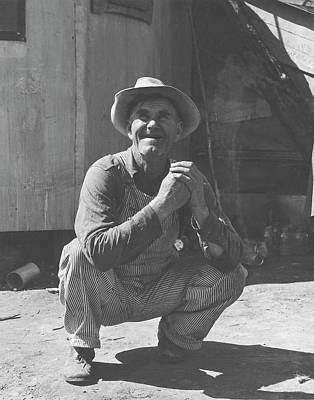 A Farmer Working Working As A Migrant Poster