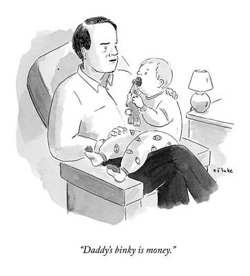 A Father Talks To His Baby Poster