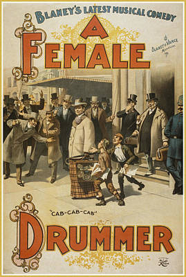A Female Drummer Poster by Aged Pixel