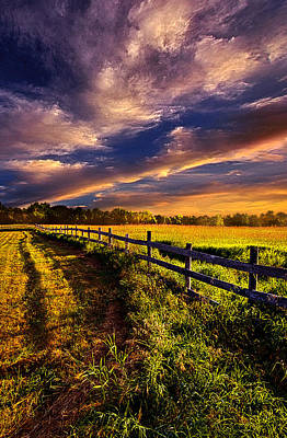 A Fence Runs Through It Poster by Phil Koch