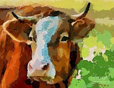 A Fleckvieh Cows Poster