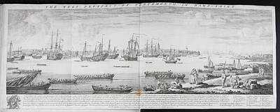 A Fleet Of Ships Off Portsmouth Poster by British Library