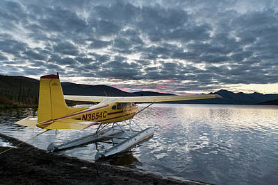 A Floatplane In Scenic Takahula Lake Poster by Hugh Rose