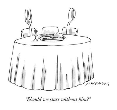 A Fork And A Spoon Sit At A Dinner Table Poster