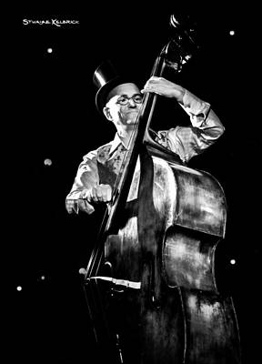 Poster featuring the photograph A French Contrabass Player by Stwayne Keubrick
