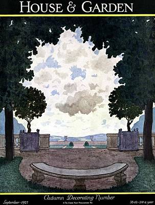 A French Formal Garden Poster