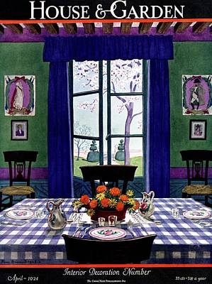 A French Provincial Dining Room Poster by Pierre Brissaud