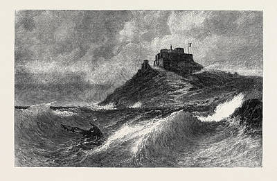 A Fresh Gale Mount Orgueil Jersey Poster by English School