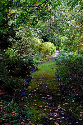 Poster featuring the photograph A Garden Path by Anthony Baatz