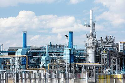 A Gas Plant Receiving North Sea Gas Poster