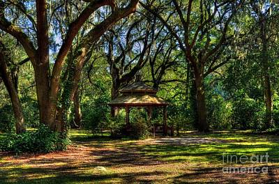 A Gazebo In The Woods Poster