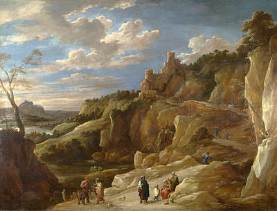 A Gipsy Fortune Teller In A Hilly Landscape Poster by David Teniers the Younger