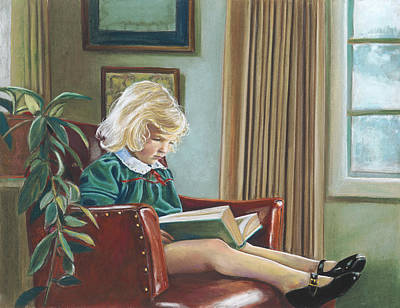 A Girl Reading Poster