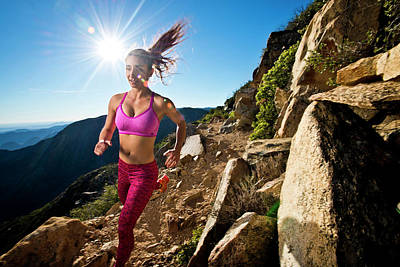 A Girl Runs On The Pacific Crest Trail Poster