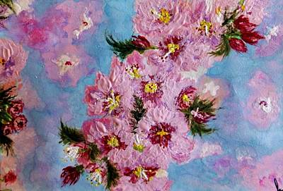 Poster featuring the painting A Glimpse Of Spring... by Cristina Mihailescu
