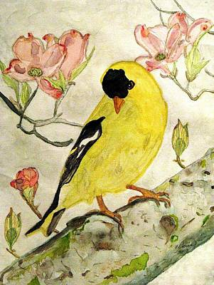 A Goldfinch Spring Poster