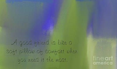 A Good Friend Poem And Abstract 2  Poster