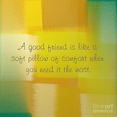 A Good Friend Poem And Abstract Square 1 Poster