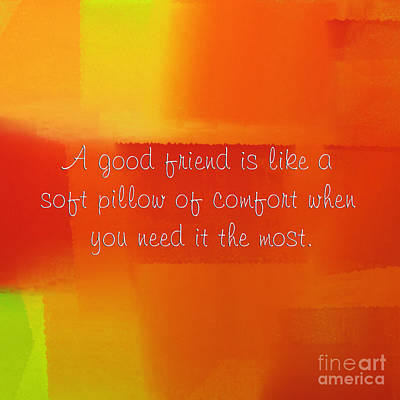 A Good Friend Poem And Abstract Square 2 Poster