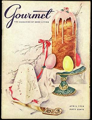 A Gourmet Cover Of A Cake Poster by Hilary Knight